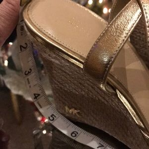 Gold shoes for Christmas